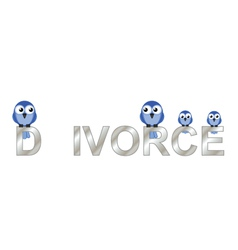 Divorce text vector