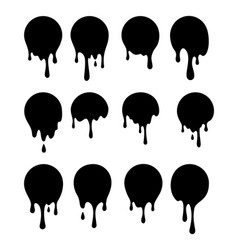 dripping current circle paint and stains vector image