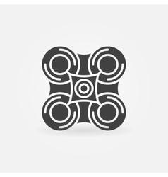 Drone black icon or logo vector