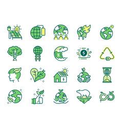 Ecology icon set vector