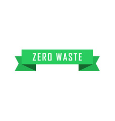 ecology zero waste green origami paper banners vector image