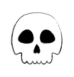 Figure skull danger and caution alert vector