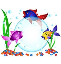 Fish advertisement vector image