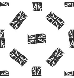 flag of great britain icon seamless pattern vector image