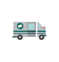 Flat cargo vehicle icon vector