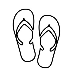 flip flops isolated icon design vector image