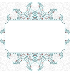 floral swirl card template design vector image
