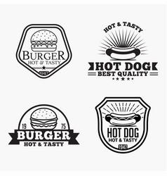 food 1 logo badge vector image