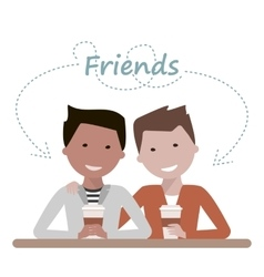 Friends Drinking Coffee vector image