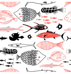 graphics of a sea pattern vector image