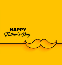 Happy fathers day minimal yellow background vector
