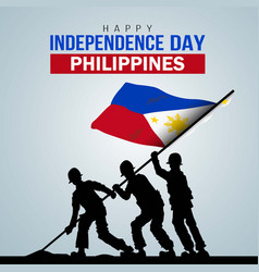 Happy independence day philippine template design vector