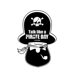 International talk like a pirate day pirate vector