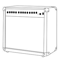 Isolated speaker outline vector