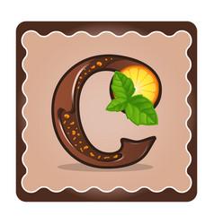Letter c candies vector