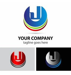 Letter J logo icon vector