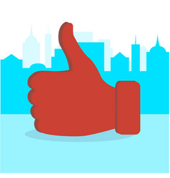 Like thumb up in city vector