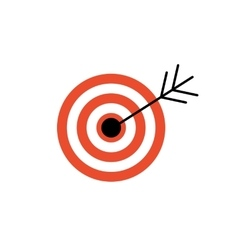 Line Icon with Flat Graphics Element of Target vector