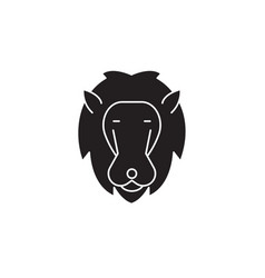 lion head black concept icon lion head vector image