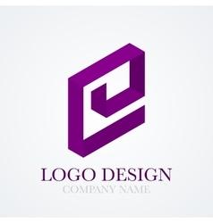 logo letter e vector image