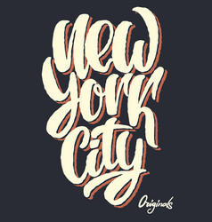 new york city lettering design t-shirt print vector image