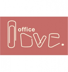office love vector image