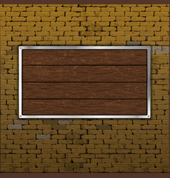 old brick wall wood sheet horizontally vector image
