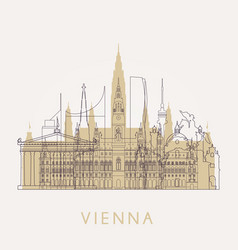 outline vienna vector image