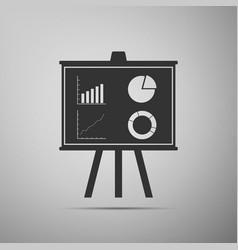 presentation financial board with graph chart vector image