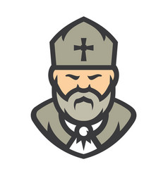 priest religion cartoon vector image