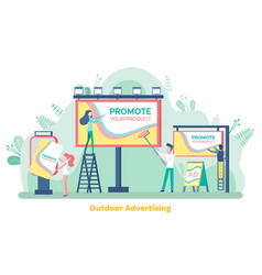 promote product billboard and ad poster vector image