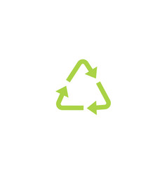 recycling green triangle eco bold line icon with vector image