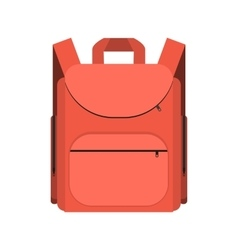 Red backpack isolated on white background vector