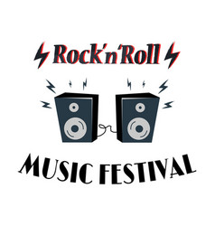 rock-n-roll music festival vector image