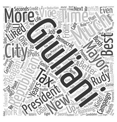 Rudy Giuliani A Political Profile text background vector