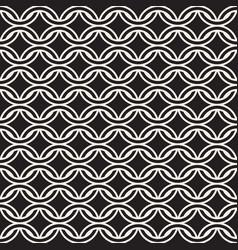 Seamless chain pattern interweaving thin lines vector