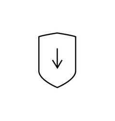 security updates download icon vector image