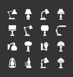 Set icons lamps vector