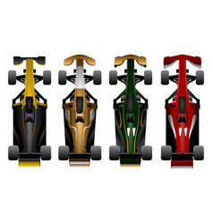 set of racing cars vector image