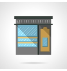 Shoe shop facade flat color design icon vector image