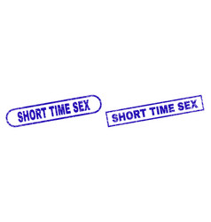 Short time sex blue rectangle seal with corroded vector