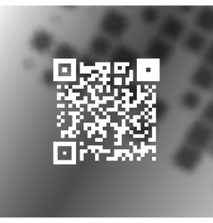 Simple icon QR code vector