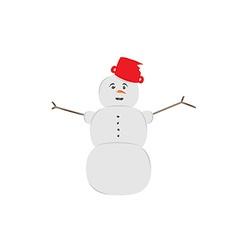 Snow man vector
