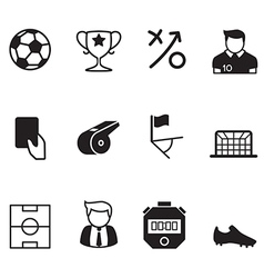 soccer Football icons vector image