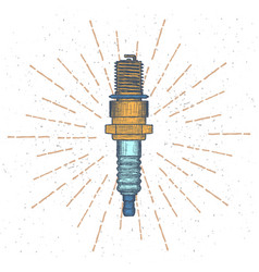 Spark plug logo design template vector