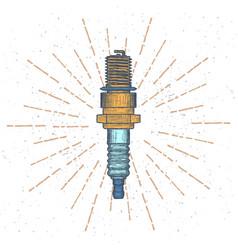 spark plug logo design template vector image
