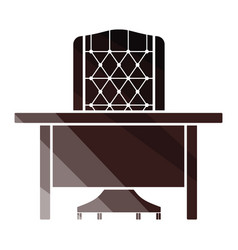 table and armchair icon vector image