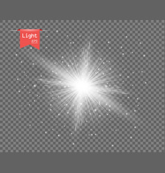 the white clear light sun vector image