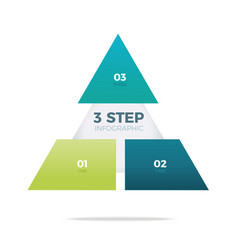 three step pyramid infographic vector image