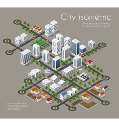 Transportation 3D city vector image